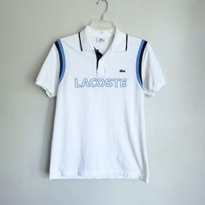 Lacoste Sport Big Logo Spellout Polo Shirt Rare 3